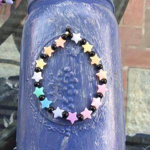 Jewelry - Kawaii Pastel Star Black Bead Lolita Bracelet